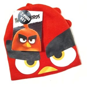 Other - NWT Children's Angry Birds Winter Hat & Mitten Set
